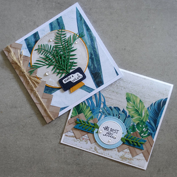 KAISERCRAFT ISLAND PARADISE TROPICAL 6X6 CARD PAPER PACK #1 30 SHEETS CARDMAKING