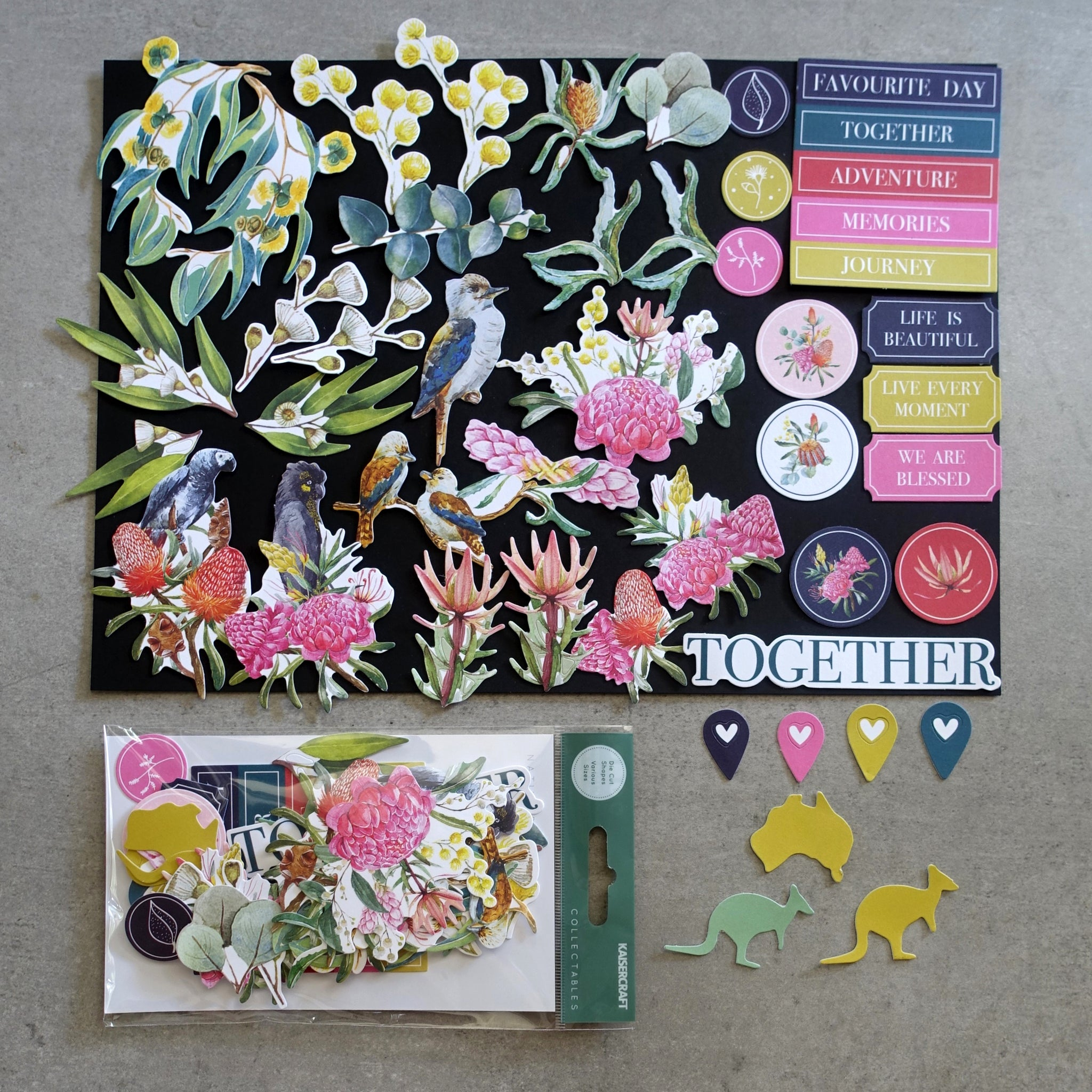 Kaisercraft /'BLESSED/' Collectables Die Cut Shapes Floral//Bright Designs KAISER