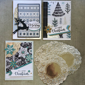 KAISERCRAFT SILVER FOIL DOILIES 10 PACK CHRISTMAS BIRTHDAY CARDMAKING