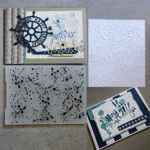 shopaperartz EMBOSSING FOLDER A2 GRAFFITI CHRISTMAS SNOW SPECKLE BIRTHDAY MALE CARDMAKING