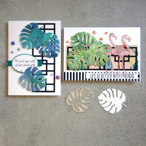 shopaperartz LARGE MONSTERA MONSTERIA LEAF TROPICAL BOTANICAL CUTTING DIE CARDMAKING