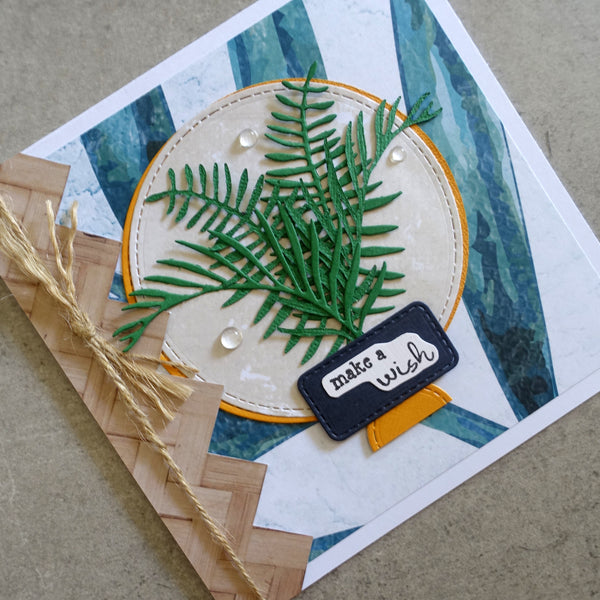 shopaperartz PALM FRONDS LEAVES LEAF SET OF 2 BOTANICAL CUTTING DIES CARDMAKING