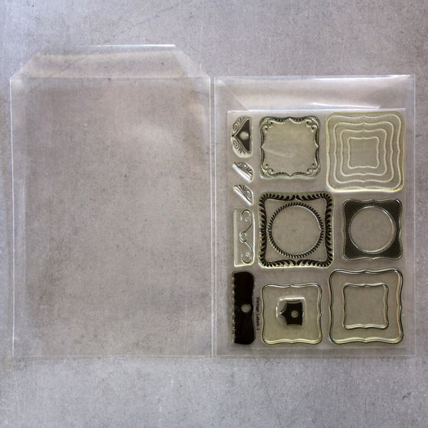 "*NEW* 30 x XL STAMP DIE STORAGE POCKETS 9-1/2"" x 6-3/4"" FITS 8"" X 6"" STAMP SETS 100 MICRON - EXTRA LARGE"