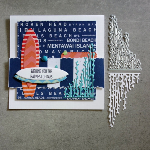 shopaperartz SEAWEED KELP SEA GRASS NAUTICAL ACCENT CUTTING DIE CARDMAKING