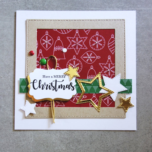 shopaperartz STARS STITCHED NESTING CHRISTMAS MALE GRUNGE 8 PCE CUTTING DIES CARDMAKING