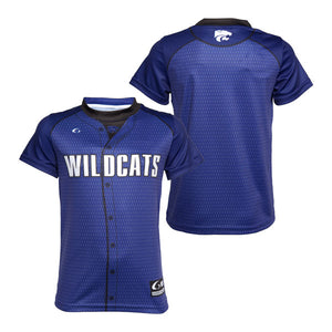 Kansas State Wildcats Youth Sublimated Purple Baseball Replica T-Shirt - 2001327
