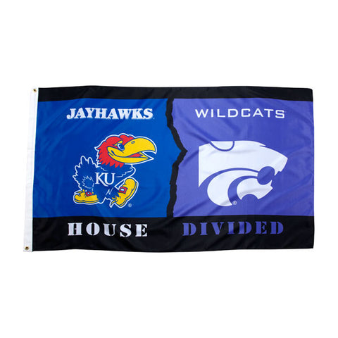 Kansas State Wildcats House Divided 3x5 Flag - 2002087