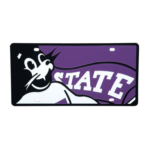 Kansas State Wildcats Mega Mascot Willie the Wildcat License Plate - 2002107
