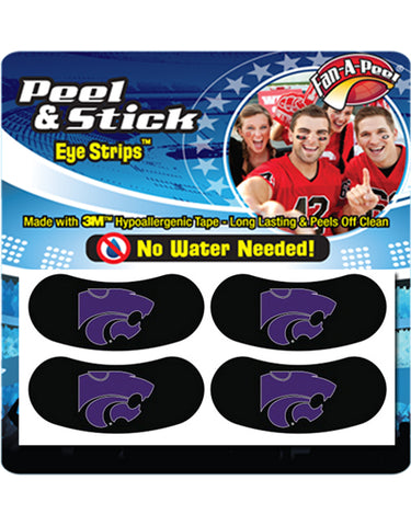 Kansas State Wildcats Powercat Stick On Eye Black Strips - 2002623