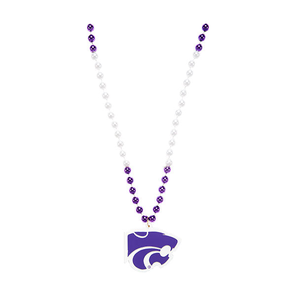 Kansas State Wildcats Beads with Powercat Medallion - 2003958