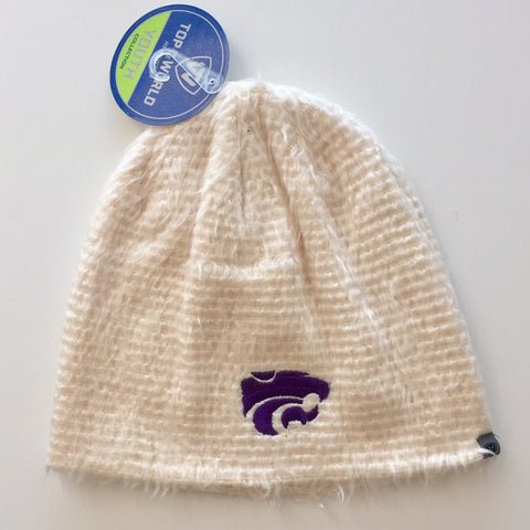Kansas State Wildcats Youth Girls Fluffy Monster Beanie - 2004743