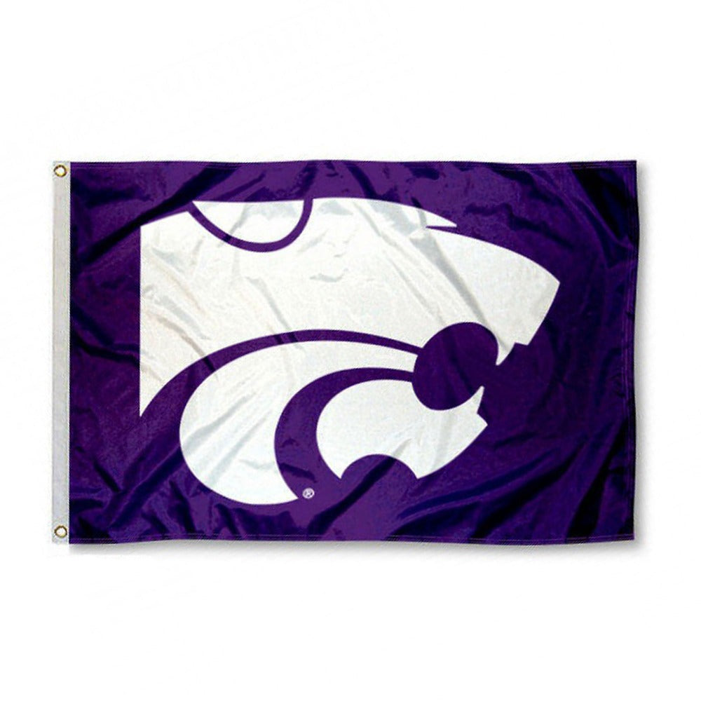 Kansas State Wildcats Powercat Logo Flag - 2005151