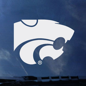 "Kansas State Wildcats 4"" Standard White Powercat Decal - 2005488"