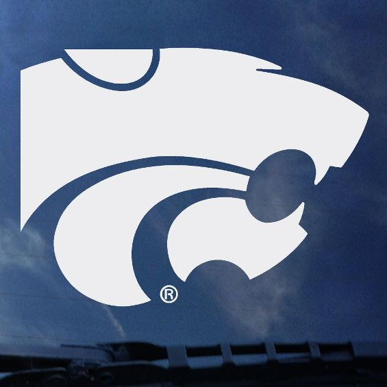 "Kansas State Wildcats 6"" Standard White Powercat Decal - 2005490"