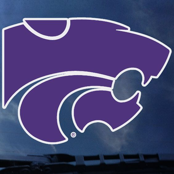 "Kansas State Wildcats 12"" Standard Purple Powercat Decal - 2005493"