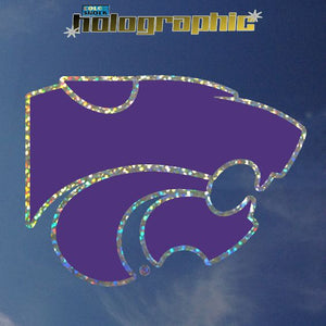 Kansas State Wildcats Powercat Holographic Car Decal - 2005496