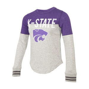 Kansas State Wildcats Youth Girls Baton Long Sleeve T-Shirt - 2005644