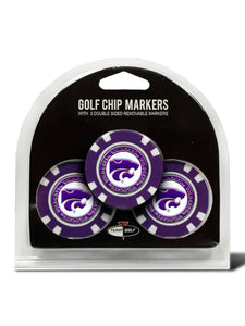 Kansas State Wildcats 3 Pack Poker Chip Golf Markers - 2005918