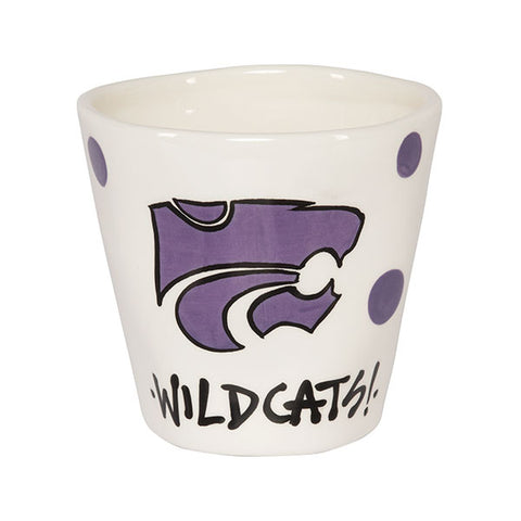 Kansas State Wildcats Magnolia Lane Wobbly Ceramic Mug - 2005936
