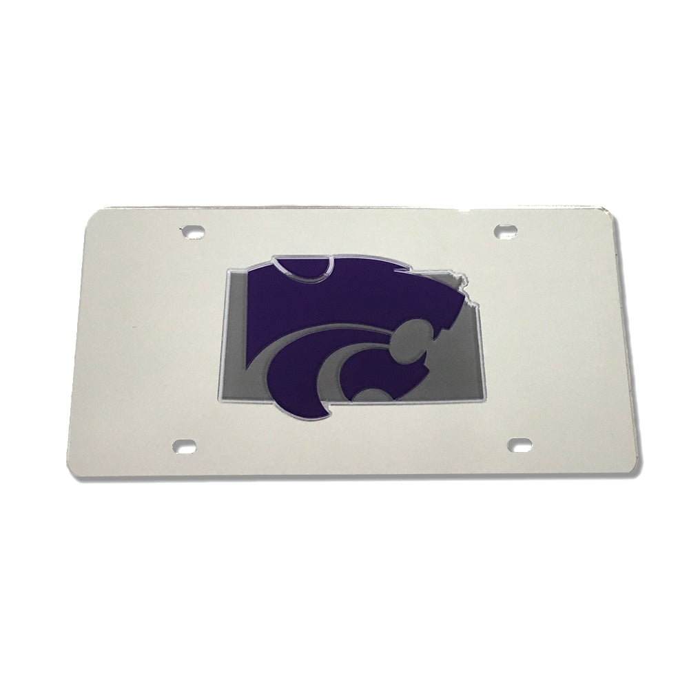 Kansas State Wildcats State Shape License Plate - 2006006