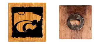 Kansas State Wildcats Wine Barrel Wood Coaster Set W - 2006110