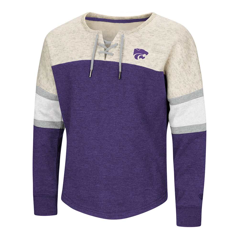 Kansas State Wildcats Colosseum Girls Ice Box Oversize Pullover - 2006446