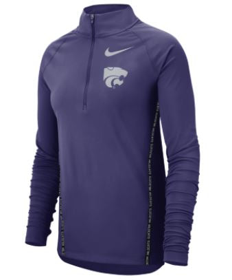 Kansas State Wildcats Nike Women's Long Sleeve Half Zip Jacket - 2006507