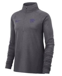 Kansas State Wildcats Nike Women's Long Sleeve Half Zip Core Jacket - 2006508