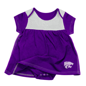 Kansas State Wildcats Colosseum Infant Girls One Time Dress Onesie - 2006543