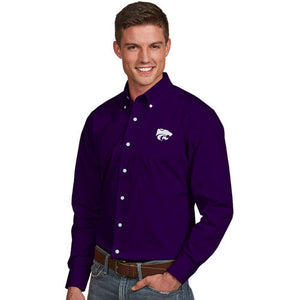 Kansas State Wildcats Antigua Men's Dynasty Woven Dress Shirt - 2006581