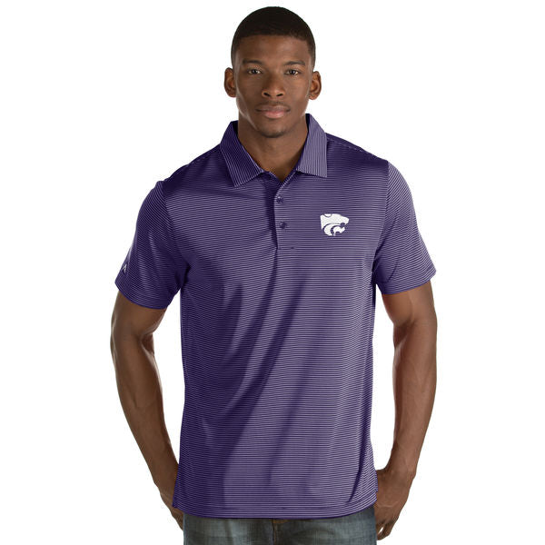 Kansas State Wildcats Antigua Men's Jersey Stripe Quest Polo - 2006582
