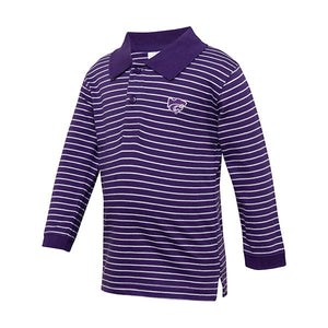 Kansas State Wildcats Toddler Long Sleeve Stripe Golf Shirt - 2006667
