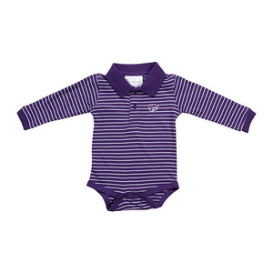 Kansas State Wildcats Infant Long Sleeve Stripe Golf Onesie - 2006668