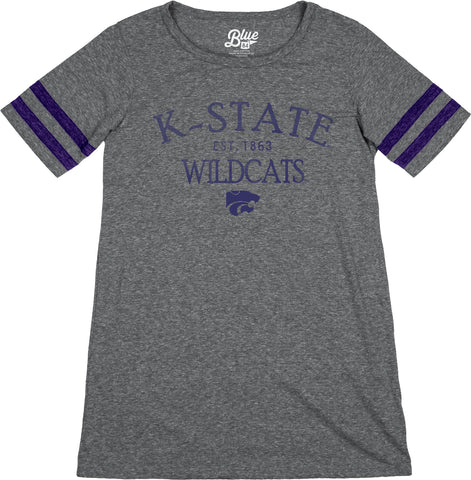 Kansas State Wildcats Blue 84 Kelly Yoke Tunic T-Shirt - 2006730