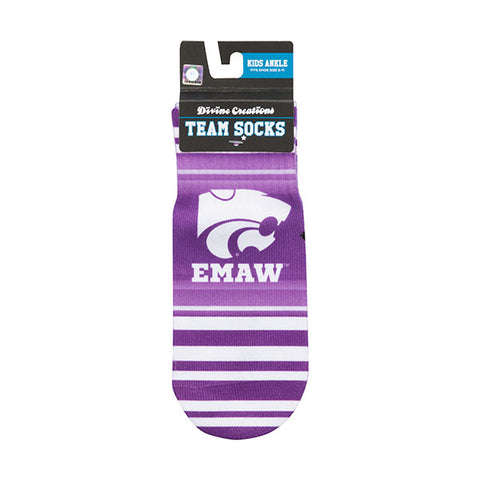 Kansas State Wildcats Kids Stripe Socks - 2006755