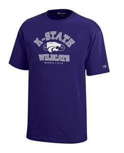 Kansas State Wildcats Champion Purple Youth Jersey Short Sleeve T-Shirt - 2006873