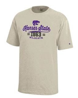 Kansas State Wildcats Oatmeal Heather Youth Jersey Short Sleeve T-Shirt - 2006874