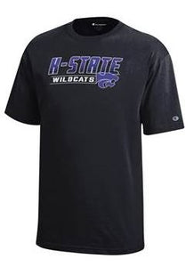 Kansas State Wildcats Youth Jersey Cotton Short Sleeve Black T-Shirt - 2006973