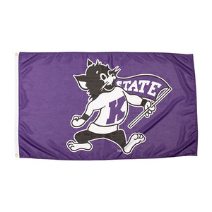 Kansas State Wildcats 3x5 Grommet DuraWave Willie the Wildcat Flag - 2006985