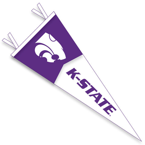 Kansas State Wildcats 12x30 Split Color Flock Plus Felt Pennant - 2006990