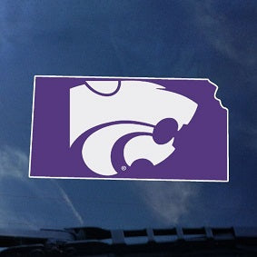 Kansas State Wildcats Statefill Car Decal - 2007009