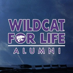 Kansas State Wildcats Alumni Wildcat for Life Car Decal - 2007010