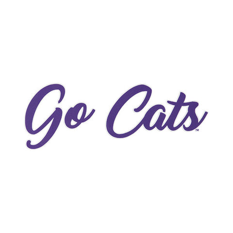 Kansas State Wildcats Go Cats Script Car Decal - 2007012