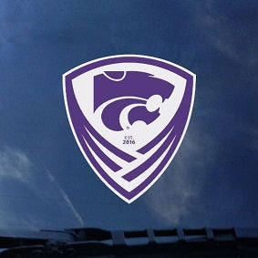 Kansas State Wildcats Soccer Crest Car Decal - 2007013