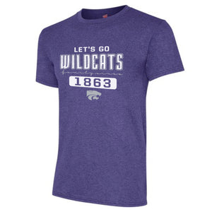 Kansas State Wildcats Hanes Triblend Short Sleeve Family Since 1863 T-Shirt - 2007192