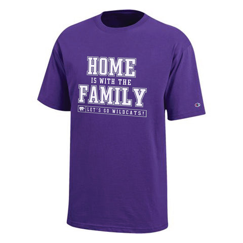 Kansas State Wildcats Champion Cotton Short Sleeve Home is With the Family Tee - 2007194
