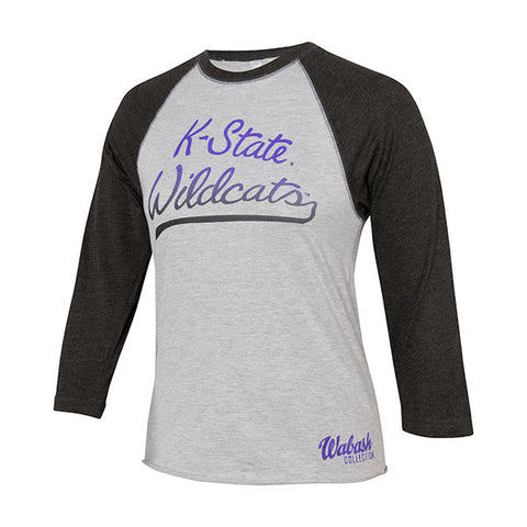 Kansas State Wildcats Wabash Collection Raglan Baseball T-Shirt - 2007203