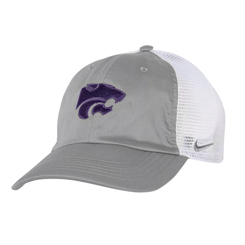 Kansas State Wildcats Nike Heritage86 Grey Trucker Hat - 2007245