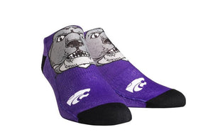 Kansas State Wildcats Rock 'Em Apparel Youth Low Cut Willie Mascot Socks - 2007270