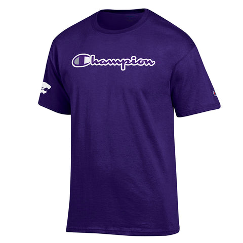 Kansas State Wildcats Champion Cobranded Purple Cotton Short Sleeve T-Shirt - 2007324